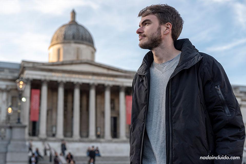 En la plaza de Trafalgar en Londres, ciudad en la que estuve estudiando inglés con Sprachcaffe