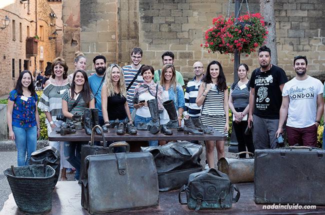 Blogueros de viaje visitan Laguardia, capital de Rioja Alavesa (País Vasco, España)