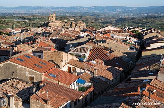 Vista de Laguardia desde lo alto (País Vasco, España)