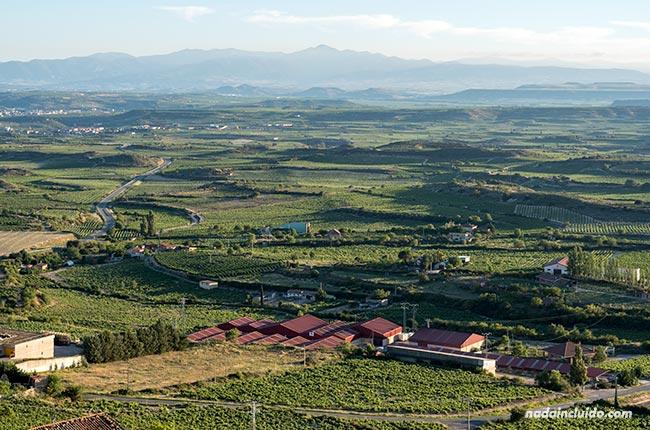 Vistas de Rioja Alavesa desde la Torre Abacial en Laguardia (País Vasco, España)