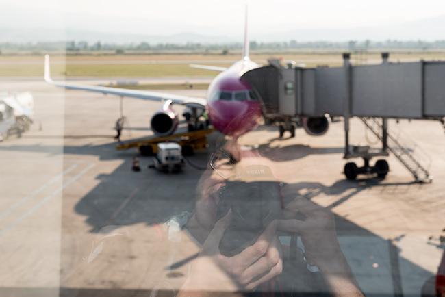 Esperando en el aeropuerto de Skopje (Macedonia)