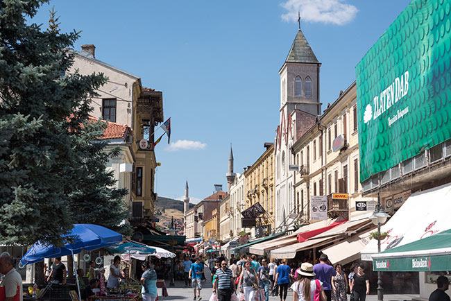 Calle Shirok Sokak en Bitola (Macedonia)