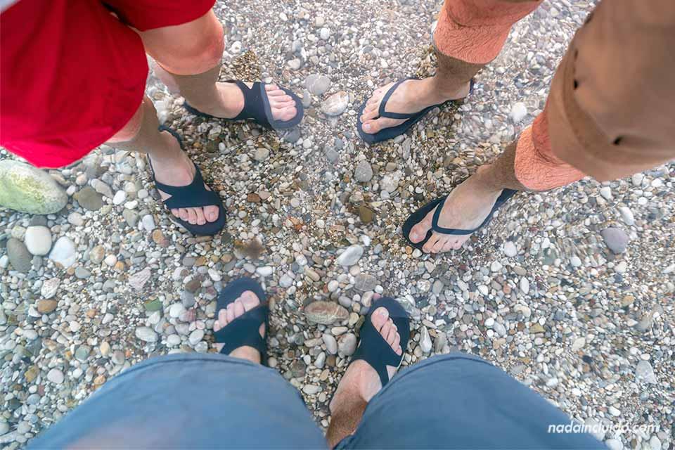 En la playa de Herceg Novi (Montenegro)