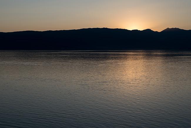 Atardecer en el Lago Ohrid (Macedonia)