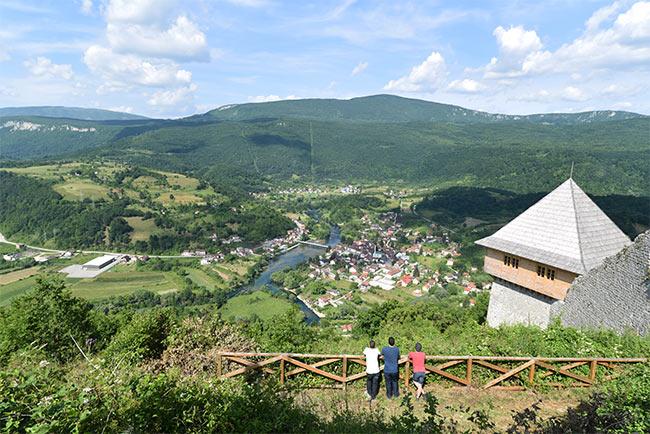 Vistas desde lo alto del Parque Nacional Una (Bosnia)