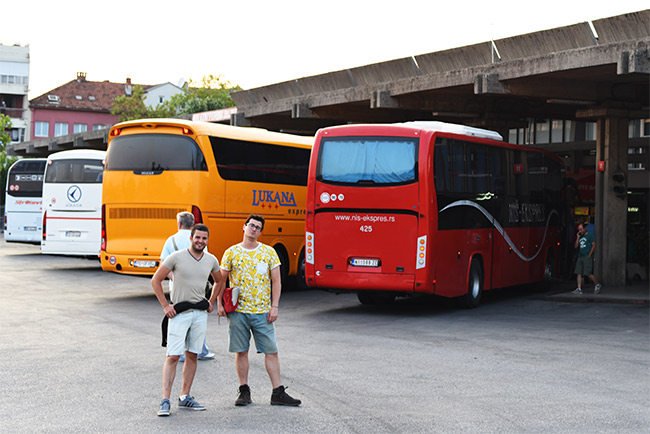 Estación de autobús de Podgorica (Montenegro)