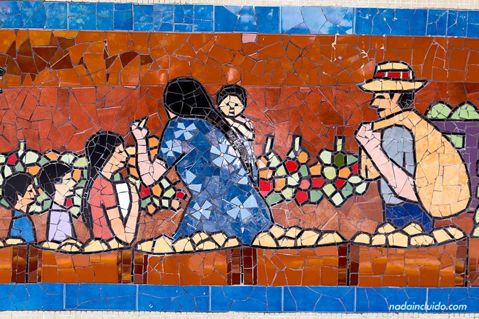 Mosaico en las calles de San José (Costa Rica)