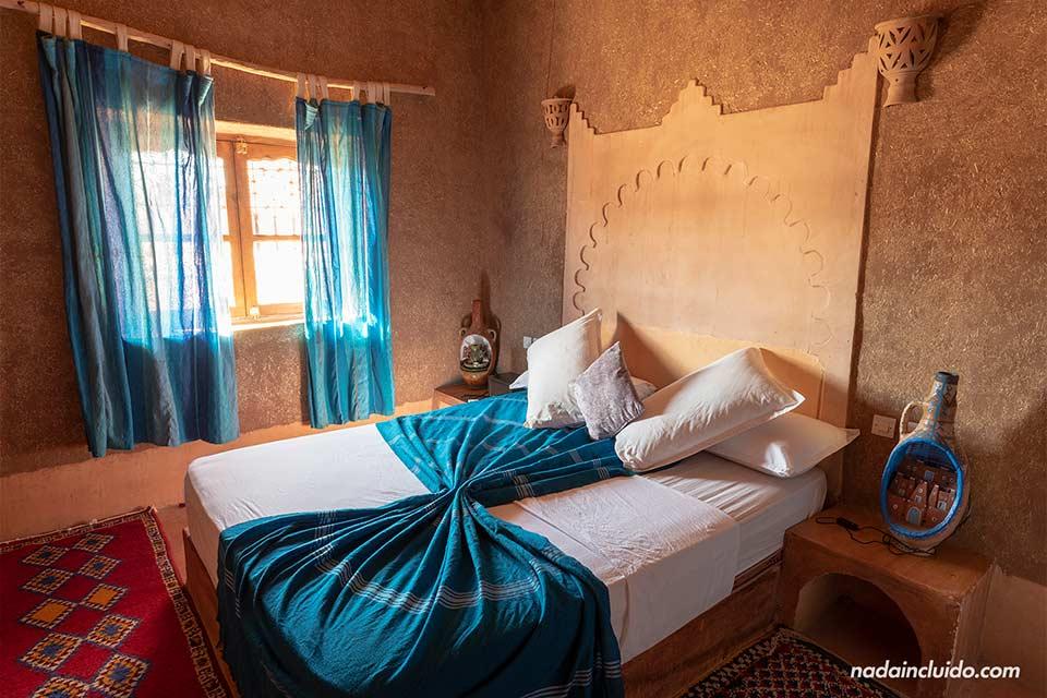Habitación del riad Dar Maktoub en Ait Ben Haddou (Marruecos)