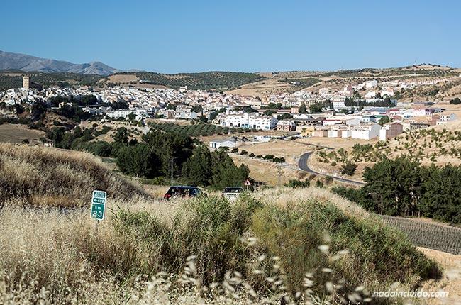 Vista de Alhama de Granada desde la carretera