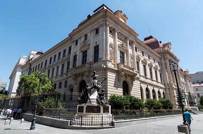 Fachada del Banco Nacional (Bucarest, Rumanía)
