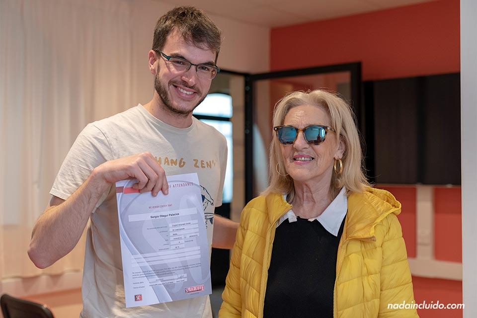Recibiendo el título de inglés en la escuela Sprachcaffe de Malta