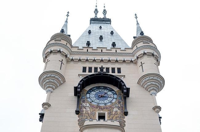 Torre del reloj del Palacio de Cultura de Iasi (Rumanía)