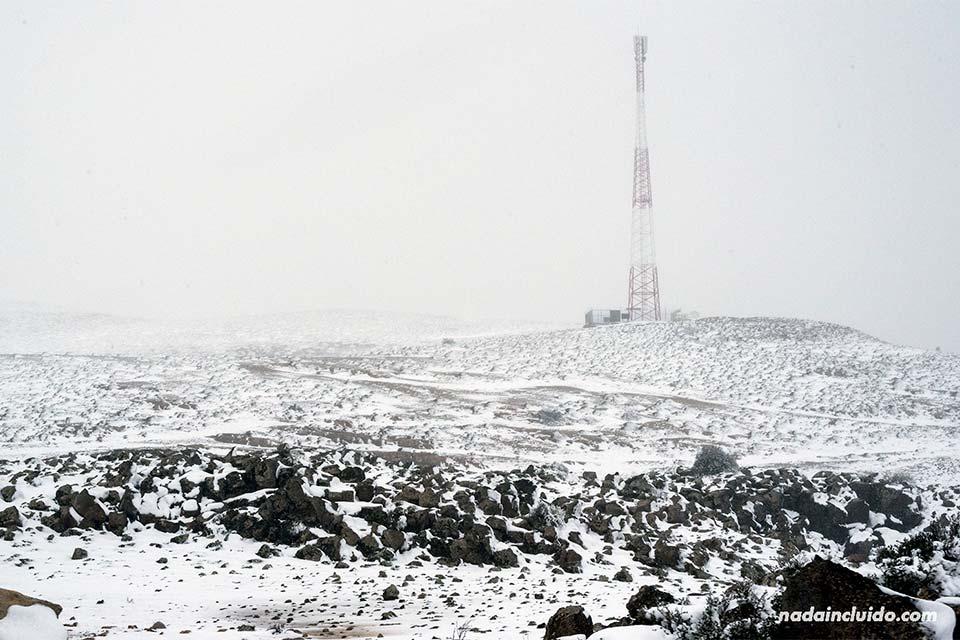 Nieve en el puerto de Ifrane (Marruecos)