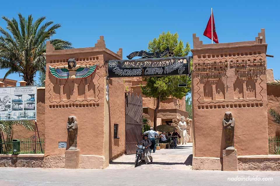 Entrada al museo del cine de Ouarzazate (Marruecos)