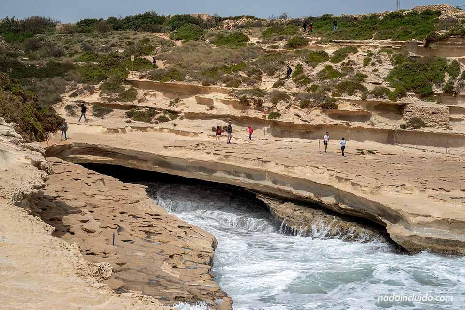 Piscina natural de Sant Peter's Pool, muy cerca de Marsaxlokk (Malta)