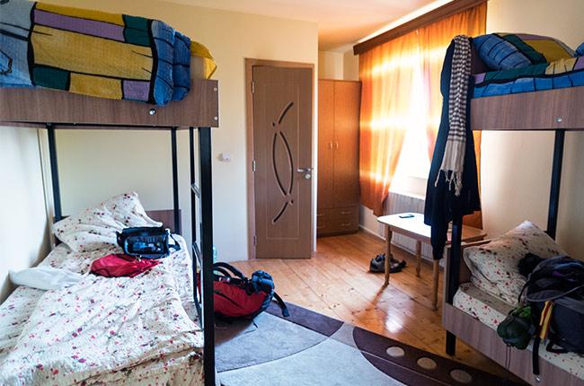Habitación del Larry Hostel, Suceava (Rumanía)