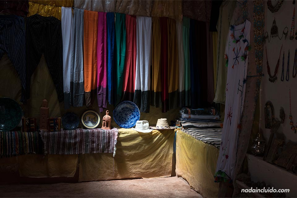 Tienda en Ait Ben Haddou (Marruecos)