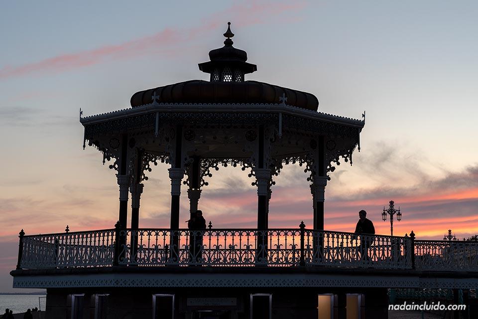 Atardecer en el Bandstand de Brighton (Inglaterra)