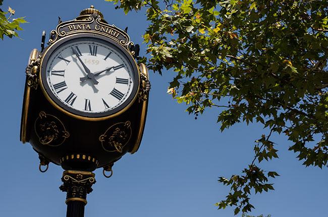 Reloj de la Piata Unirii (Bucarest, Rumanía)