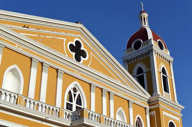 Fachada de la catedral de Granada (Nicaragua)