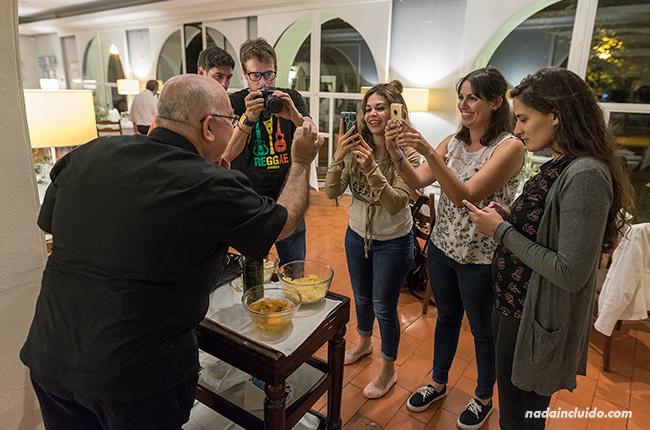 Showcooking en el hotel restaurante Santa Luzía de Elvas (Alentejo, Portugal)