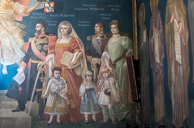 Pintura en el interior de la Iglesia Sfantul Nicolae Domnesc, Iasi (Rumanía)