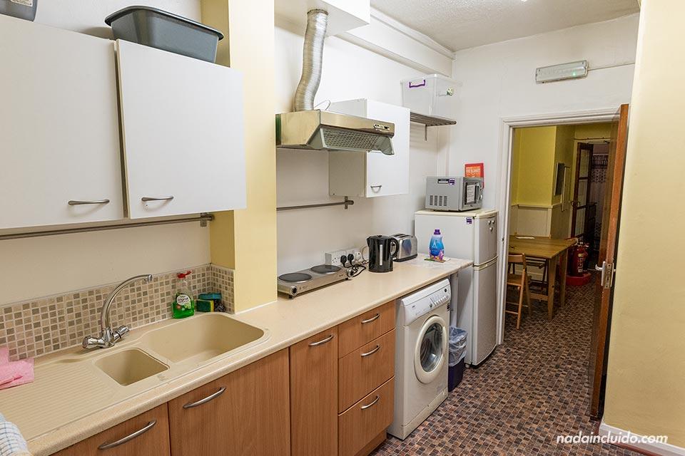 Cocina del apartamento de Sprachcaffe en Londres, en el barrio de Ealing (Inglaterra)