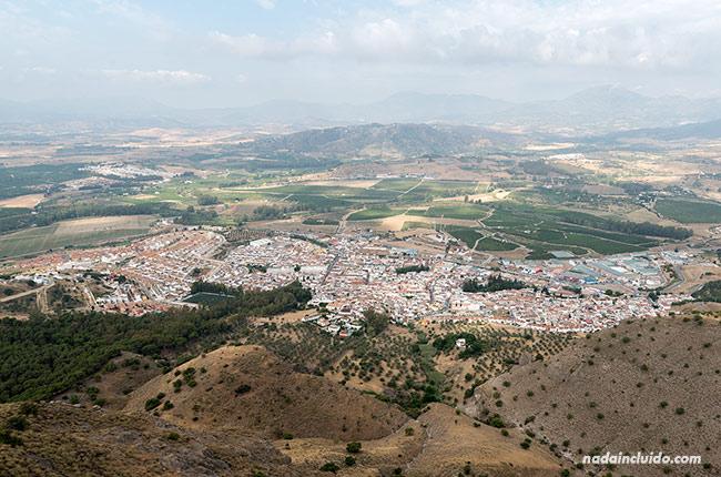 Vistas de Pizarra desde El Santo (Málaga)