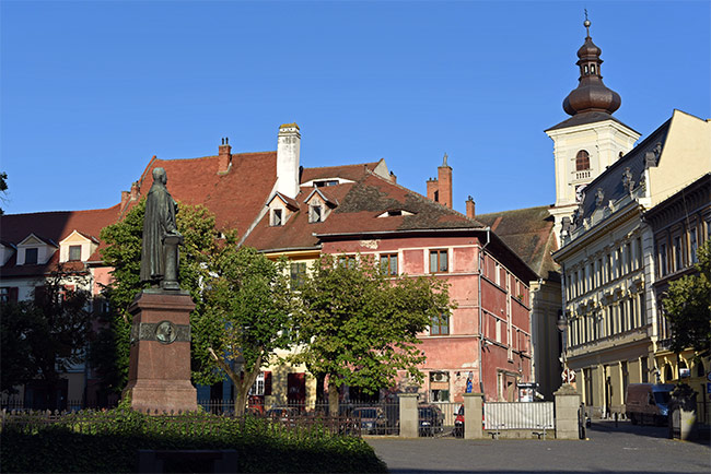 Plaza de Albert Huet (Piata Albert Huet) en Sibiu (Rumanía)