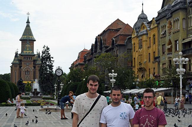 En la Piata Victoriei, Timisoara (Rumanía)