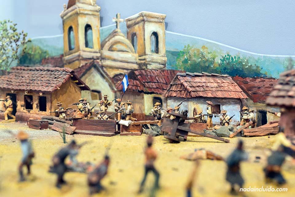 Maqueta sobre la batalla de Rivas en el museo Juan Santamaría (Alajuela)