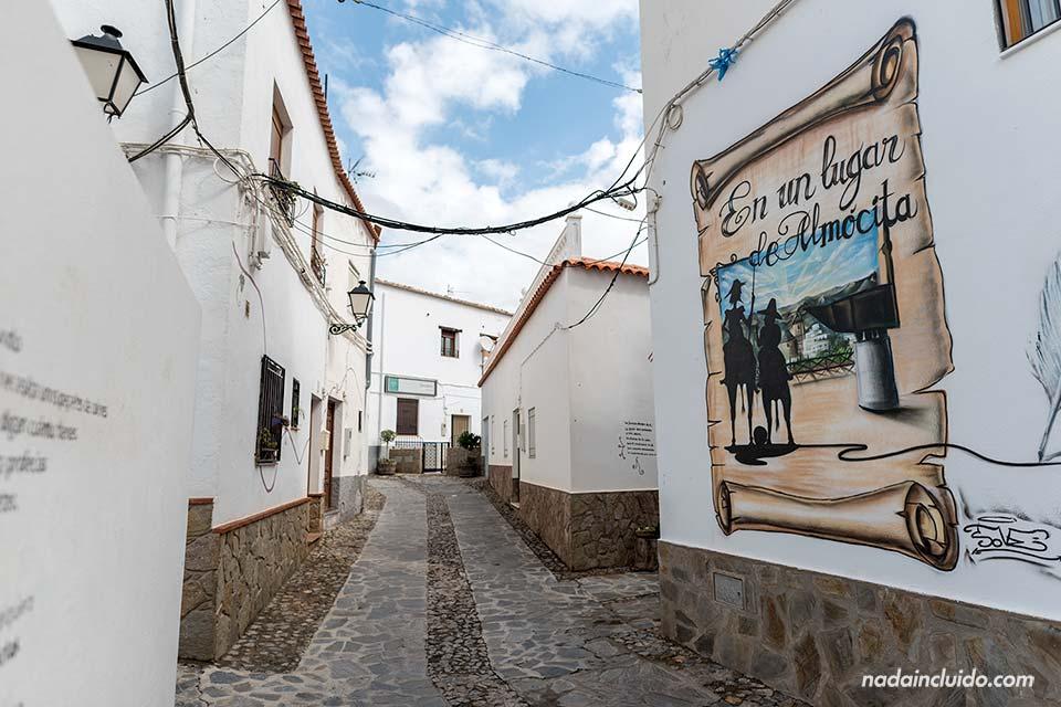 Graffiti del Quijote en Almócita (Almería)