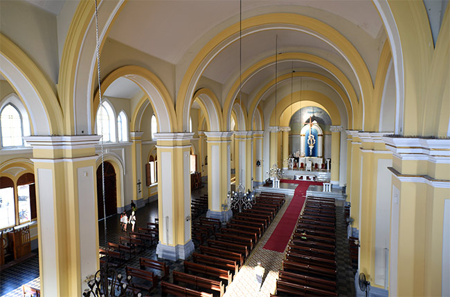 Vista desde lo alto del interior de la Catedral de Granada (Nicaragua)