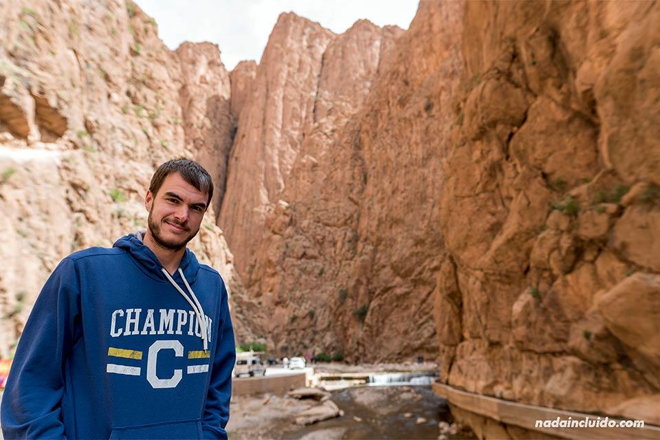 En la garganta de Todra (Marruecos)