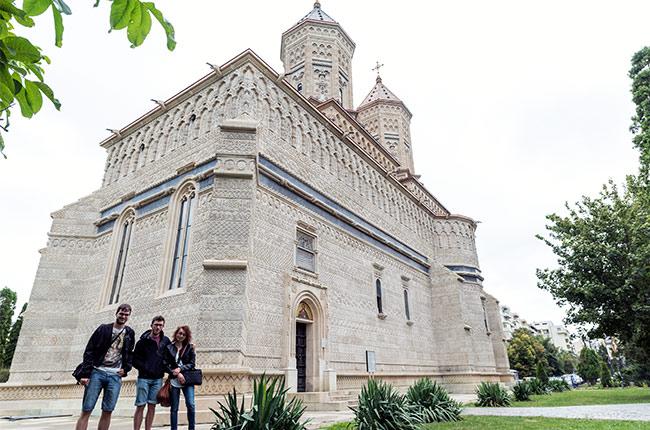 Exterior del Manastirea Trei Ierarhi (Monasterio de los Tres Jerarcas) de Iasi (Rumanía)