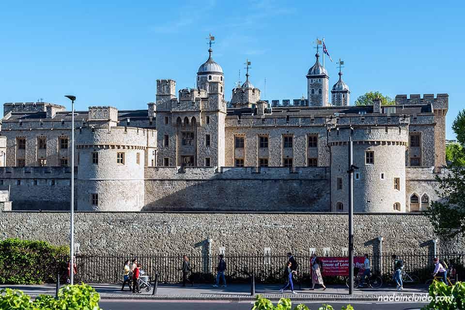 Exterior de la torre de Londres (Inglaterra)