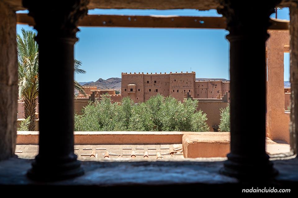 Vistas de las Kasbah Taourirt desde el museo del cine de Ouarzazate (Marruecos)