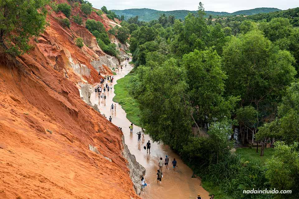 Vista desde lo alto del Fairy Stream de Mui Ne (Vietnam)
