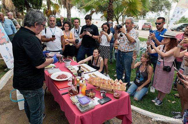 Showcooking en el restaurante Cortijo del Arte (Pizarra, Málaga)
