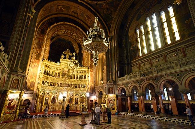 Interior de la Catedral Ortodoxa, Timisoara (Rumanía)