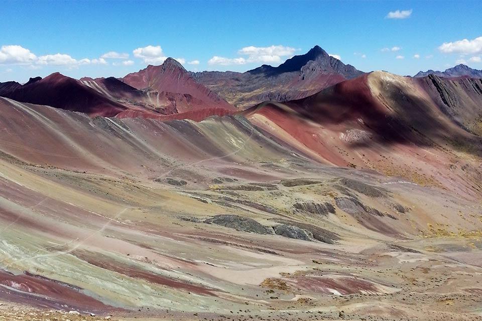 Paisaje en Vinicunca, la montaña de los 7 colores (Perú)