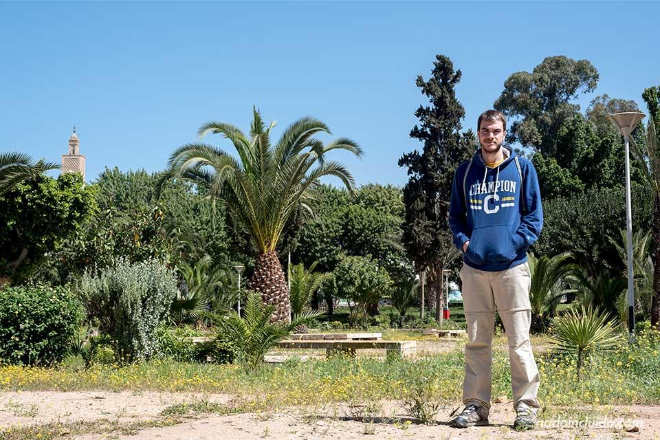 En el jardín Ibn Zaidoun de Agadir (Marruecos)
