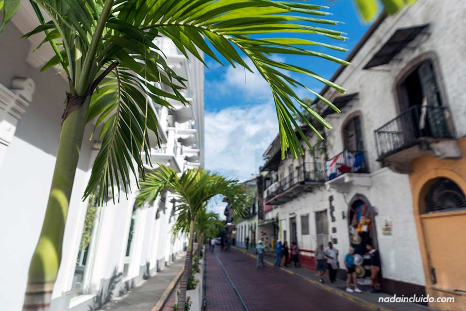 Calle del casco antiguo de ciudad de Panamá