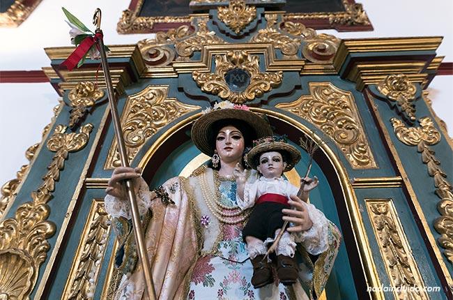 Virgen en la iglesia Inmaculada Concepción de La Malahá (Granada, Andalucía)
