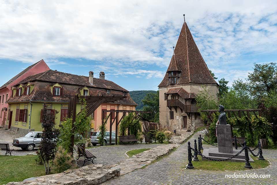 Turnul Cizmarilor en la ciudadela de Sighisoara (Rumanía)