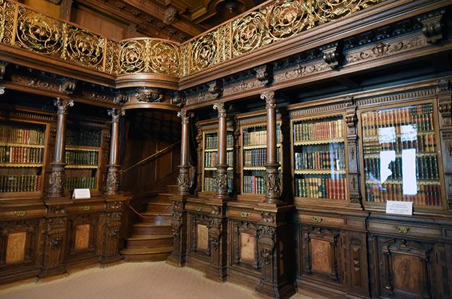 Librería Real en el Castillo de Peles (Rumanía)