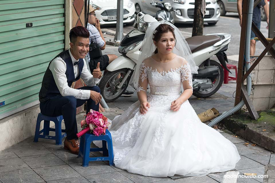 Sesión de fotos de novios en Hanoi (Vietnam)