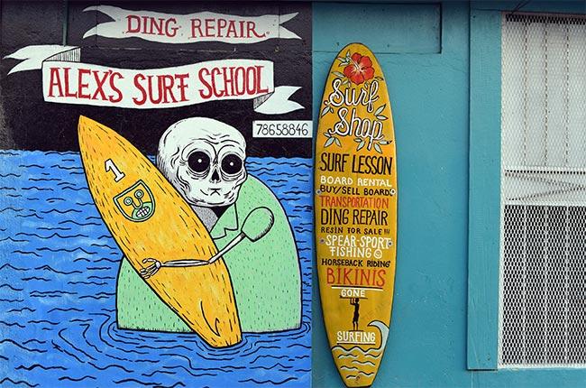"""Escuela de surf """"Alex's Surf School"""" en San Juan del Sur (Nicaragua)"""