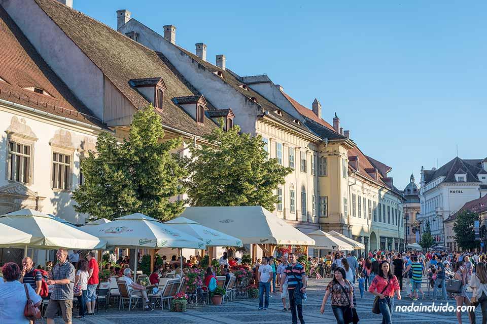 Plaza Grande (Piata Mare) de Sibiu (Rumanía)