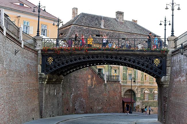 Puente de los Mentirosos (Podul Minicunilor) en Sibiu (Rumanía)